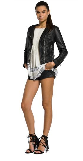 Biker leather jacket w7330 .000.82246