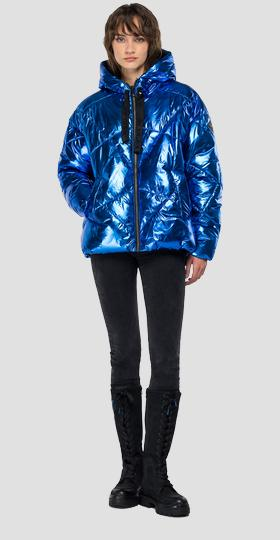 Laminated padded jacket