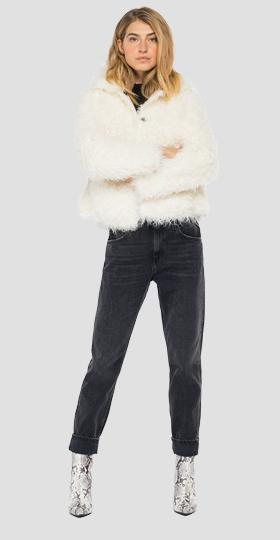 Eco fur jacket