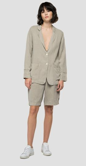 REPLAY Essential jacket in linen and viscose