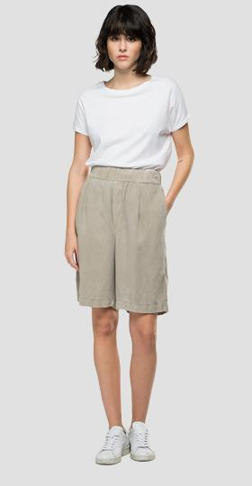 REPLAY Essential bermuda shorts in linen and viscose