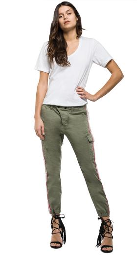 Trousers with side panels w8769c.000.80655g