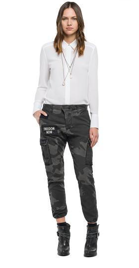 Camouflage cargo trousers w8769f.000.70513