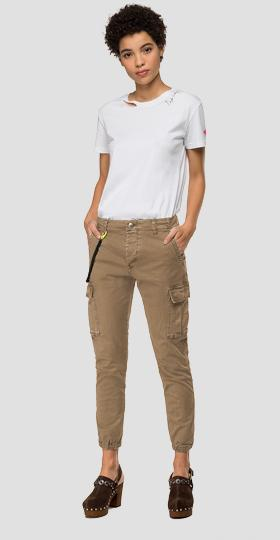 garment dyed cotton cargo trousers