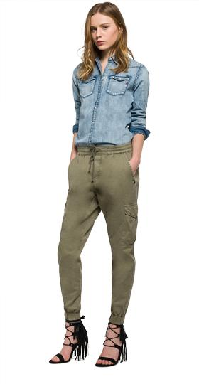 Cotton cargo trousers w8774 .000.82760