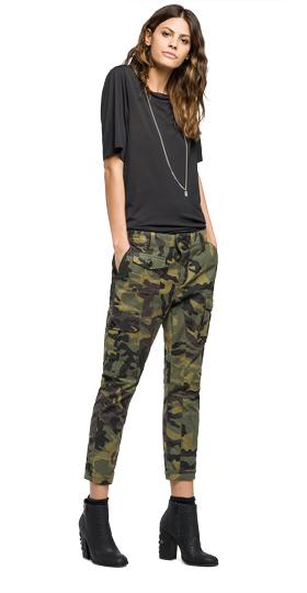 Camouflage cargo trousers w8819a.000.71407