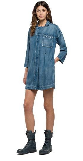 Vestido camisero en soft denim w9300 .000.36a 114