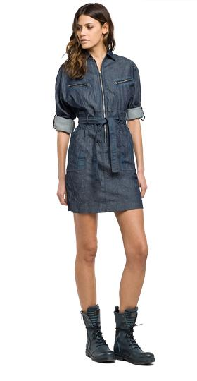 Kleid aus Stretch Denim w9322a.000.15a 104