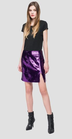 Mini skirt with sequins