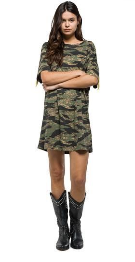 Camouflage cotton dress w9399 .000.71258