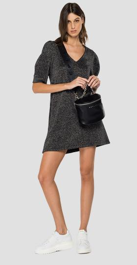 Comfort fit REPLAY dress with lurex