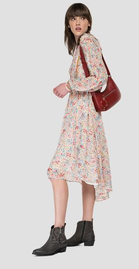 Georgette dress with all-over print