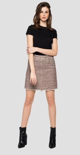 Short skirt with mélange lurex