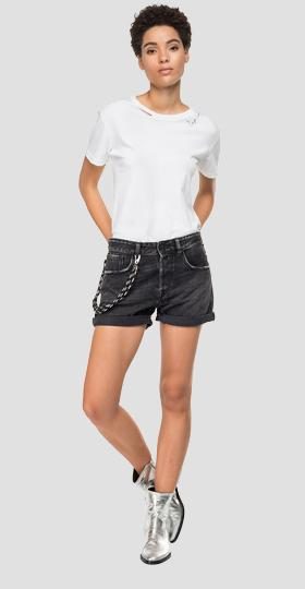 Denim shorts with five pockets