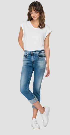 ROSE LABEL slim fit cigarette crop Faaby jeans