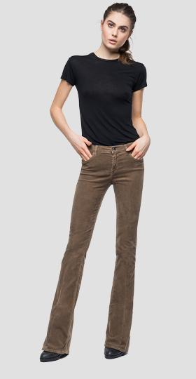 Flare fit Stella velvet trousers