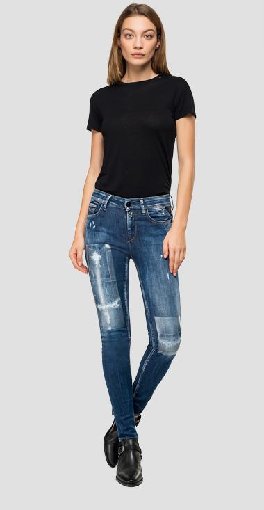 Skinny high waist fit New Luz Maestro jeans wh689 .000.227 m55