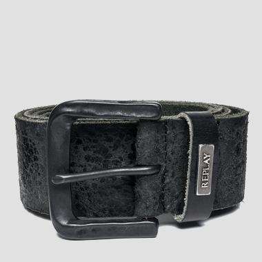 Crackle washed leather belt - Replay AM2423_000_A3002C_098_1