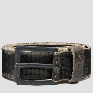 Men's engraved leather belt - Replay AM2434_000_A3077_012_1
