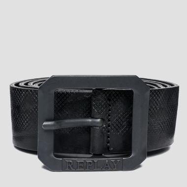 Men's distressed leather belt - Replay AM2452_000_A3077_098_1
