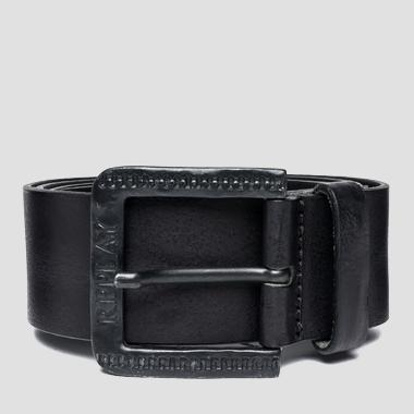 Men's belt with engraved buckle - Replay AM2465_000_A3001E_098_1
