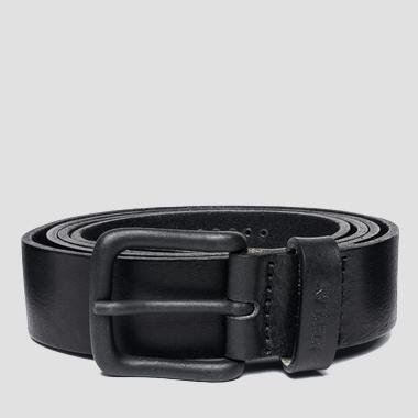 Men's leather belt with matte buckle - Replay AM2469_000_A3000BL_098_1