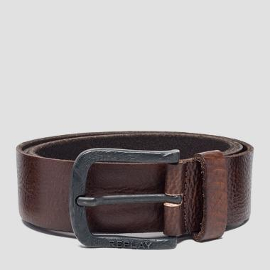 Leather belt with engraved buckle - Replay AM2553_000_A3003E_107_1