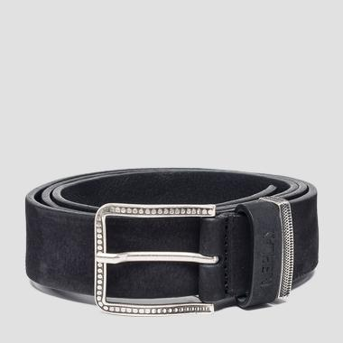 Nubuck leather belt - Replay AM2556_000_A3052_098_1