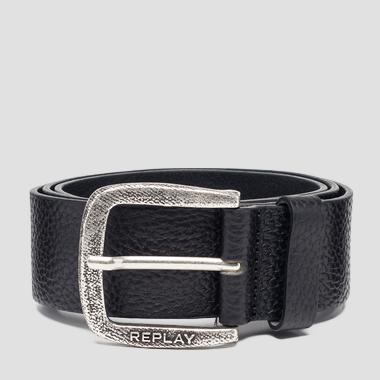 Ceinture en cuir grainé - Replay AM2565_000_A3061A_098_1