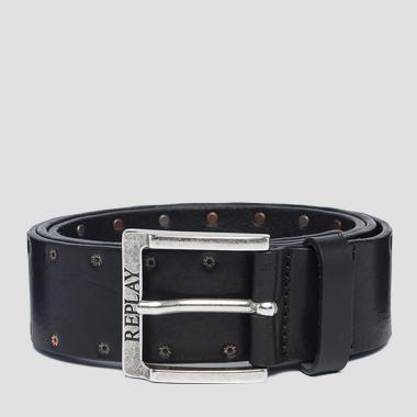 Pull up leather belt - Replay AM2581_000_A3007_098_1