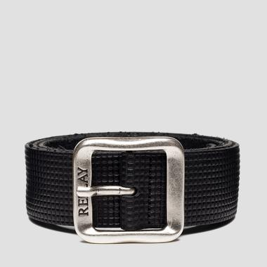 Belt with embossed pattern with squares - Replay AM2592_000_A3007_098_1