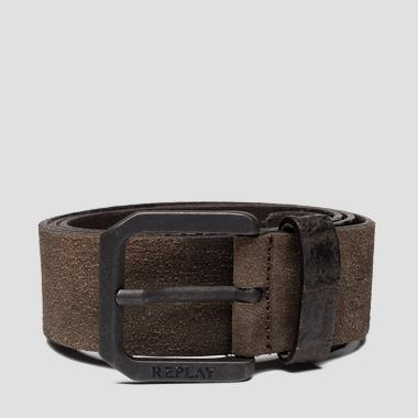 Leather belt with suede effect - Replay AM2598_000_A3024C_122_1