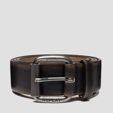Brushed leather belt - Replay AM2599_000_A3184_034_1