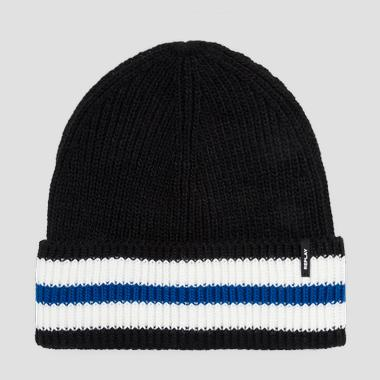 Beanie with contrasting stripe - Replay AM4211_000_A7003_1289_1