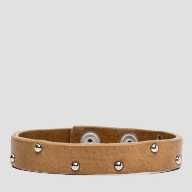 Douglas leather bracelet with studs - Replay AM7028_000_A3007_045_1