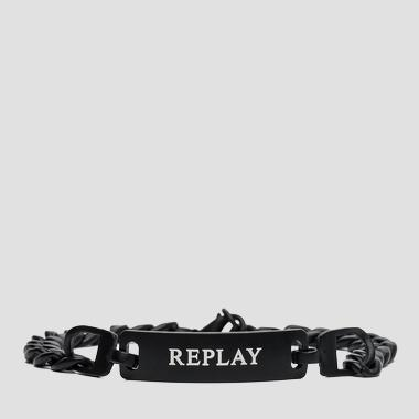 Link bracelet with plate - Replay AM7029_000_A6003_098_1