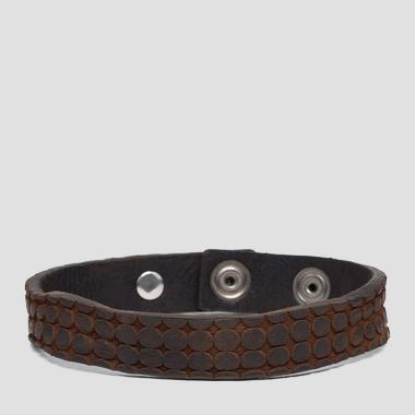 Bracelet with lasered circles - Replay AM7047_000_A3077_098_1