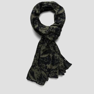 Printed cotton scarf - Replay AM9183_000_A0190H_1122_1