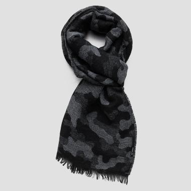Camouflage scarf wool blend - Replay AM9208_000_A0308B_1270_1
