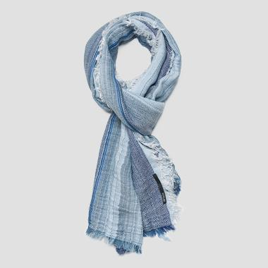 Scarf with herringbone and striped print - Replay AM9215_000_A0268D_1348_1