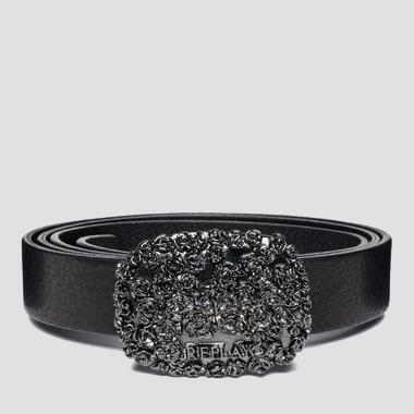 Women's belt with rose-patterned buckle - Replay AW2438_000_A3007_098_1