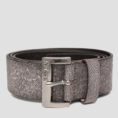 Women's nabuk leather belt - Replay AW2446_000_A3052C_1142_1