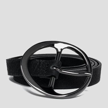 Women's embossed leather belt - Replay AW2448_000_A3154_098_1