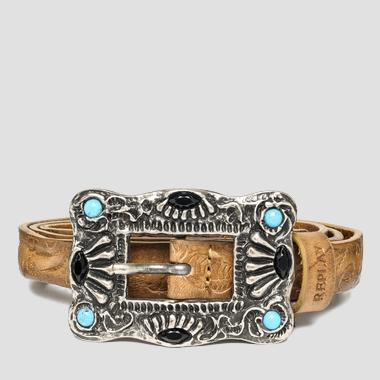 Women's belt with decorated buckle - Replay AW2452_000_A3007_045_1