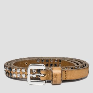 Women's studded leather belt - Replay AW2456_000_A3007_045_1