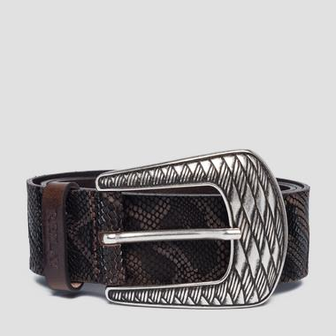 Snake leather belt - Replay AW2528_000_A3109A_114_1