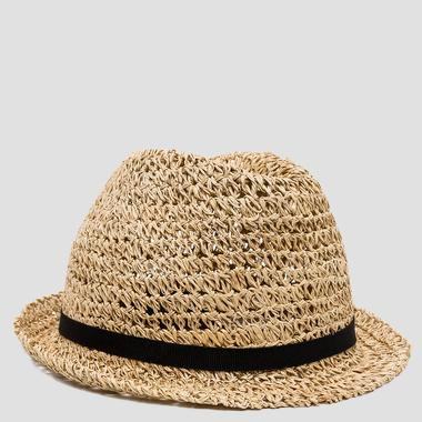 Open-weave straw hat - Replay AW4175_000_A0036_044_1