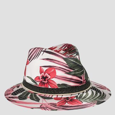 Floral print hat - Replay AW4176_000_A0322A_1139_1