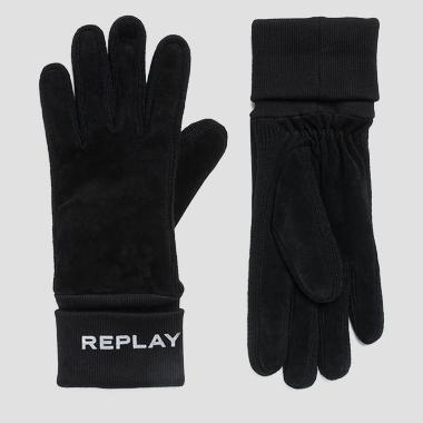 Suede and knit gloves - Replay AW6066_000_A3066B_098_1