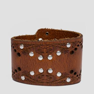 Vintage leather bracelet - Replay AW7156_000_A3007_089_1